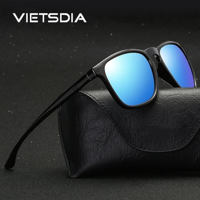 VIETSDIA Marca Clássicos Óculos Polarizados Homens Condução Quadrado Preto  Quadro Óculos Masculinos Óculos de Sol Para 5e1f364955
