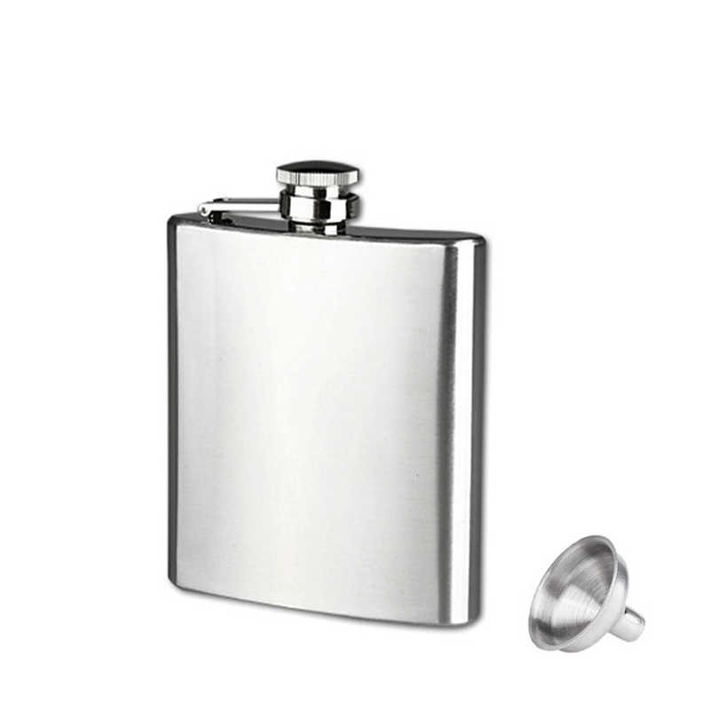 2016 Hot Sale Flask Trustworthy 1pc 10 8 7 6 5 4 2oz Stainless Steel Hip Flask Liquor Whisky Alcohol Cap Funnel Drinkware Bottle