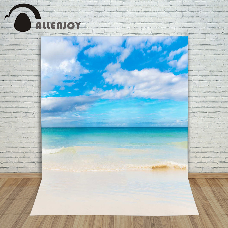 Allenjoy seaside photo background photocall for wedding vacation travel summer photography backdrops background for photo studio