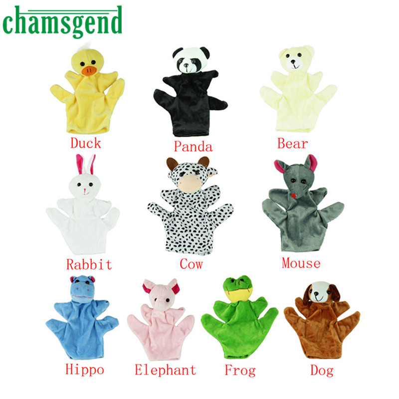 Chamsgend Hot Baby Child Zoo Farm Animal Hand Glove Puppet Finger Sack Plush Toy Levert Dropship baby touch farm