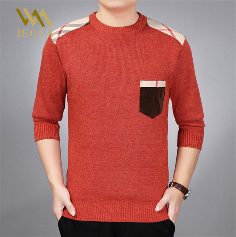 Sweaters Men Pullover Mens Jumper Cashmere Wool Sweaters Man Thick Autumn Winter Casual Knitwear Fleece Velvet Male Clothing