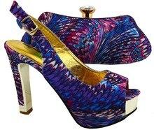 Lila Farbe Nigeria Hochzeit Schuh Und Tasche Sets Zu Entsprechen qualität Afrikanischen Schuh Und Tasche Set Für Party In Frauen BCH-20