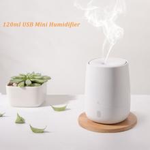 120ML USB Mini nawilżacz powietrza ultradźwiękowy olejek Aroma dyfuzor dla Xiaomi Youpin wyciszenie LED Light Mist Maker dla domu tanie tanio ANTINIYA 36db Ultradźwiękowe Aromaterapia Klasyczne kolumnowy 10㎡ Dotykowy-tone Nawilżania Jeden 2017 Ultradźwiękowy nawilżacz powietrza