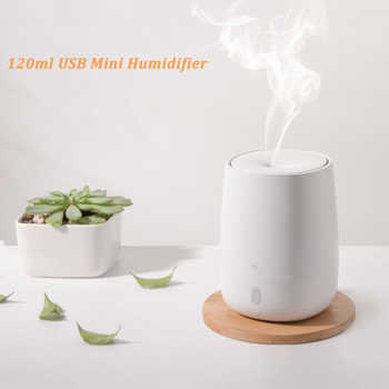 For Xiaomi Youpin 120ML USB Mini Air Humidifier Ultrasonic Essential Oil Aroma Diffuser Mute LED Light Mist Maker Quite for Home - DISCOUNT ITEM  41 OFF All Category