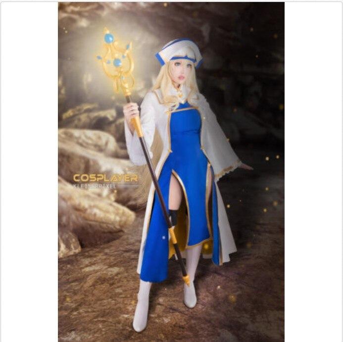 Goblin Slayer Onna Shinkan Priestess Cosplay Costume Suit Hat Women Dress Lot
