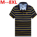 8XL 6XL 5XL Solid Polo Shirt 2016 New Summer Short Sleeve Striped Polo Homme Slim Fit Turn Down Collar Men Polo Shirt Plus Size
