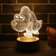 3D LED Lamp Cute Christmas Tree Snowman Light  Energy Saving Lamp For Home