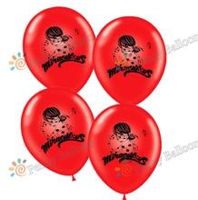 12 polegadas 12 pçs/lote Milagrosa Lady bug Globos Balões De Látex Balão de Feliz Aniversário Decorações Do Partido Brinquedos Infláveis Joaninha