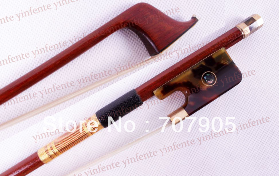 1x New 4/4 Cello Bow pretty Snail Rare Frog Golden Color Bow string 1 4
