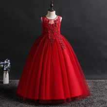 new princess dress girl wedding girls dresses robe fille Hollowing out Birthday party Wedding presidin