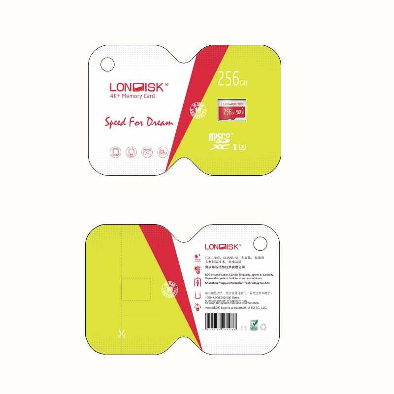 Cartes Micro SD 256 go LONDISK UHS-I (U1)/UHS-I (U3)/classe 10 (C10) carte mémoire microSDXC avec adaptateur SD