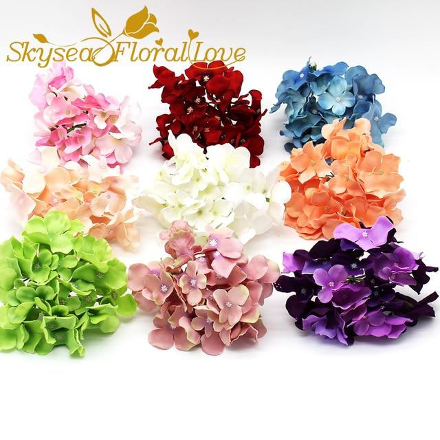 Kunstliche Blumen Hortensien Kopfe 30 Blutenblatter Diy Hintergrund