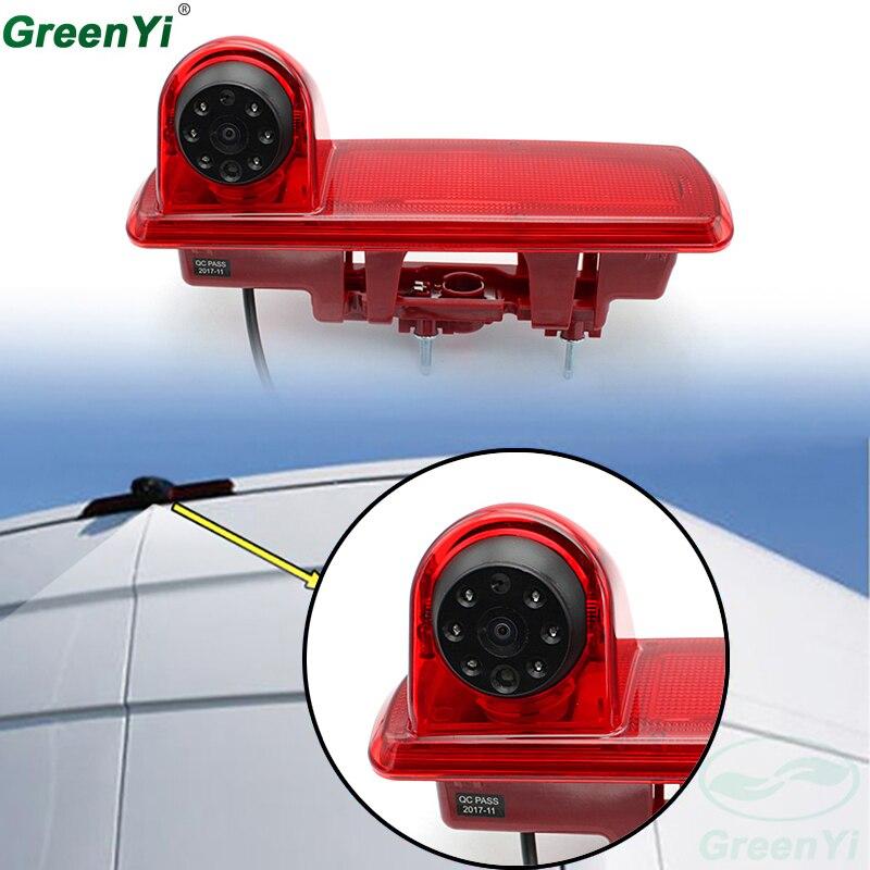 GreenYi HD Night Vision Waterproof Car Brake Light Rear View Camera For Opel Vauxhall Vivaro Renault Traffic CCD Reverse Camera