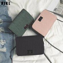 summer single shoulder small square bag cloth grain turnlock Korean version fashionable female chain di