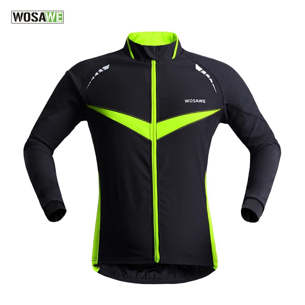 Waterproof Warm Coat Full Zipper Autumn Winter Riding Clothes Long Sleeve Men Cycling Jersey Winter Cycling Clothing BC266