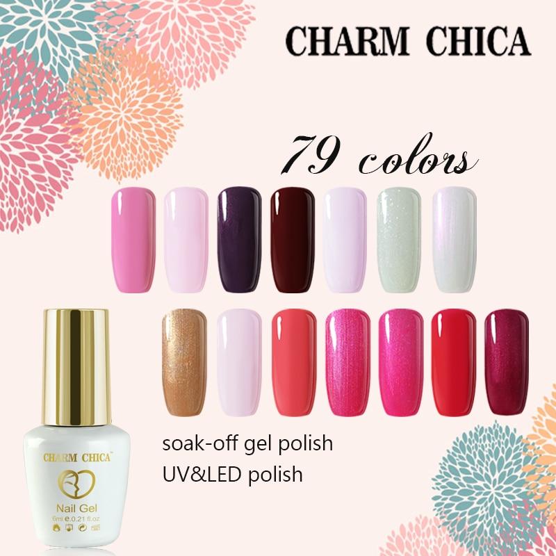 Charm Chica Nude Series Color 6ml UV Gel Nail Polish Soak