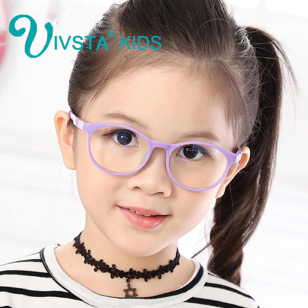 IVSTA 6008 TR90 Plastic titanium kids frame eyeglasses children glasses Silicone frame rubber cat animal Safe Unbreaken myopia