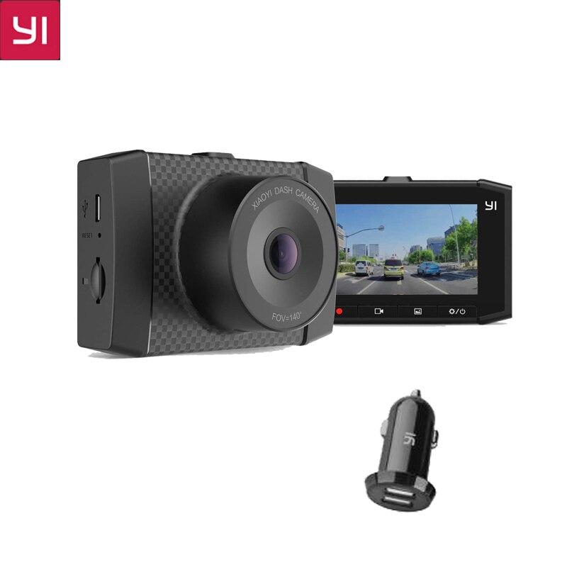цена на Original YI Ultra Dash Camera With 16G Card 2.7K Resolution A17 A7 Dual Core Chip Voice Control light sensor 2.7-inch Widescreen