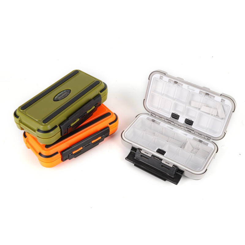 20CM Fishing Tackle Box Multiple Compartments Double Sided Fish Lure Bait Line Hooks Holder Container Fishing Accessories Box|Fishing Tackle Boxes| |  - title=