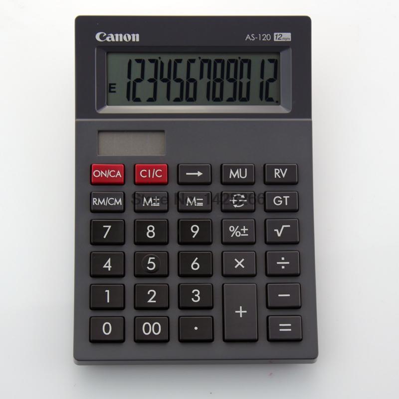 1 Piece Canon AS 120 Genuine Curved body design classic 12 big screen font b calculator