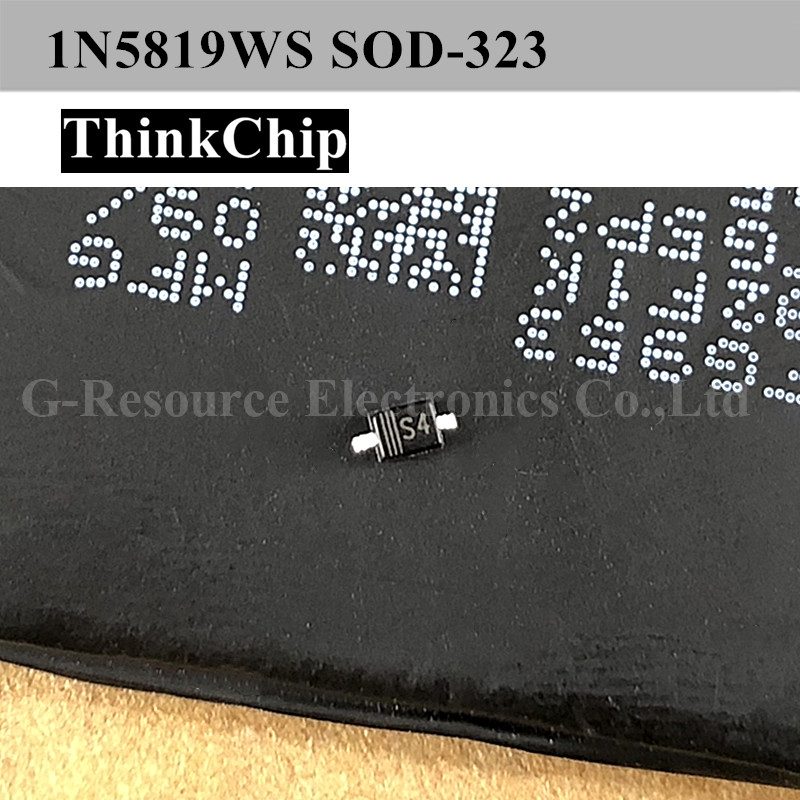Free Shipping 100pcs/lot 1N5819 S4 SOD-323 SMD Schottky Diode NEW Original