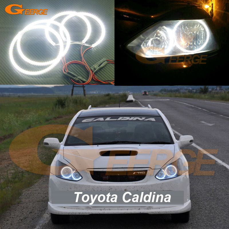 For Toyota Caldina T240 2002 2003 2004 headlight Excellent Ultra bright smd led Angel Eyes Halo Ring kit for alfa romeo 147 2000 2001 2002 2003 2004 halogen headlight excellent ultra bright illumination ccfl angel eyes kit halo ring
