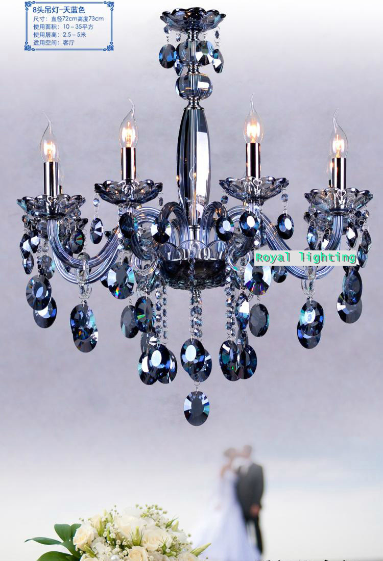 Blue chandelier lighting for dining room restaurant blue crystal blue chandelier lighting for dining room restaurant blue crystal chandelier hotel dressing room luxury led chandelier lamparas in chandeliers from lights aloadofball Image collections