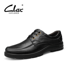 Clax Man Formal Leather Shoes Autumn Men's Dress Shoe Genuine Leather Black Business Social Shoe Luxury Brand