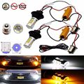 New Super Bright 2X1156 S25 P21W BAU15S 42SMD Dual cor Switchback Branca/Âmbar DRL Turn Signal Led Light Bulb Cauda luz