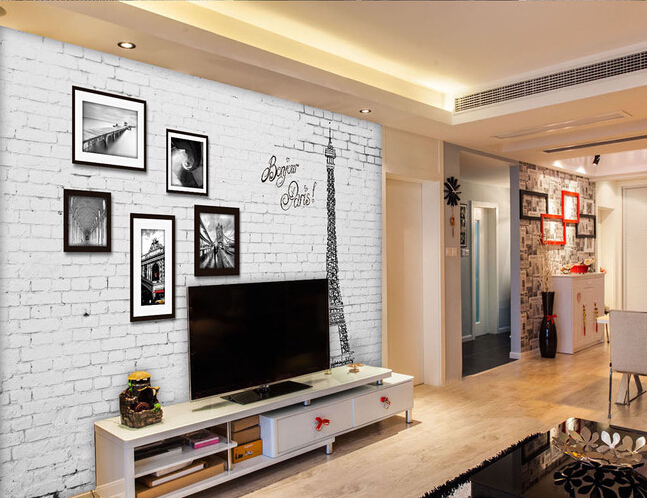 The custom 3D murals,3 d European style retro wall frame Paris iron tower ,living room sofa TV wall bedroom wall paper the custom 3d murals the new york times center building street black and white living room sofa tv wall bedroom wall paper