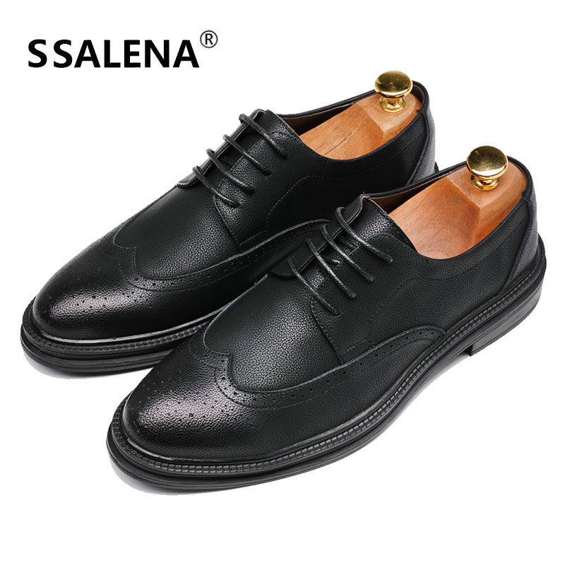 Formal Shoes Men Breathable Genuine Leather Dress Shoes Men Hollow Mesh Working Shoes Flats Wearable Comfortable Business Shoes Aa20579