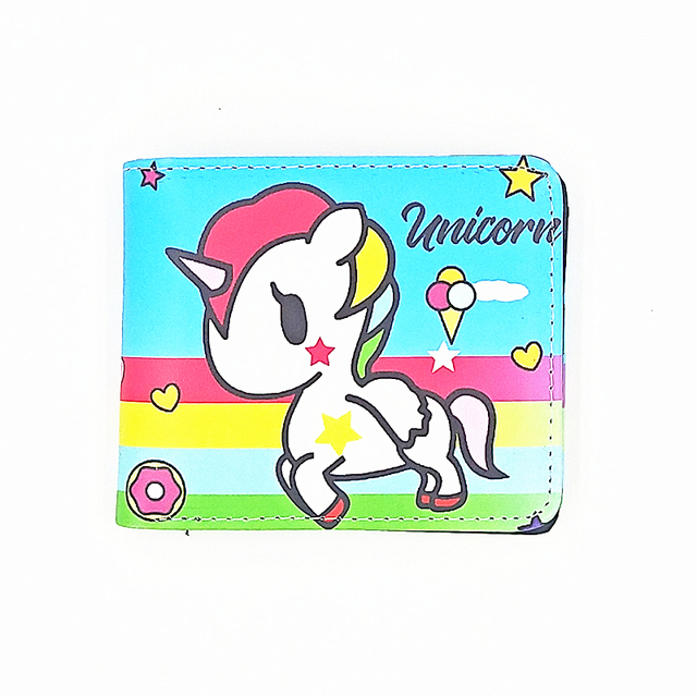 new design kids animal unicorn cion pure no face short wallets purse female women's bag comic fate child purse for coins
