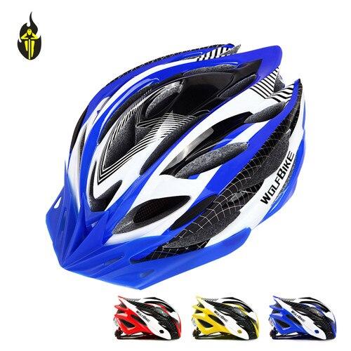 WOLFBIKE Bicycle Helmet Protect Helmet Safety Cycling Helmet Bike Head Protect Custom Bike Helmets MTB Off Road