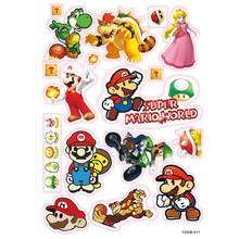 71b8294bfd54ee 12pcs Super Mario world game stickers Notebook skateboard trolley case  decal backpack Tables sticker PVC waterproof