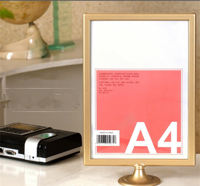 811 inch double sided acrylic frame display card white frame picture frames a4 bar display decor gold frame silver