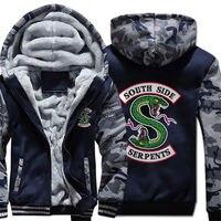 Riverdale Serpents Costume Hoodies Zipper Sweatshirts Thick Warm Jacket Cosplay