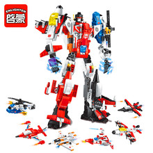 ENLIGHTEN 1405 Mecha 6 In 1 Transform Robot Building Blocks Brick Set Compatible LegoIN Technic Playmobil Toys For Children(China)