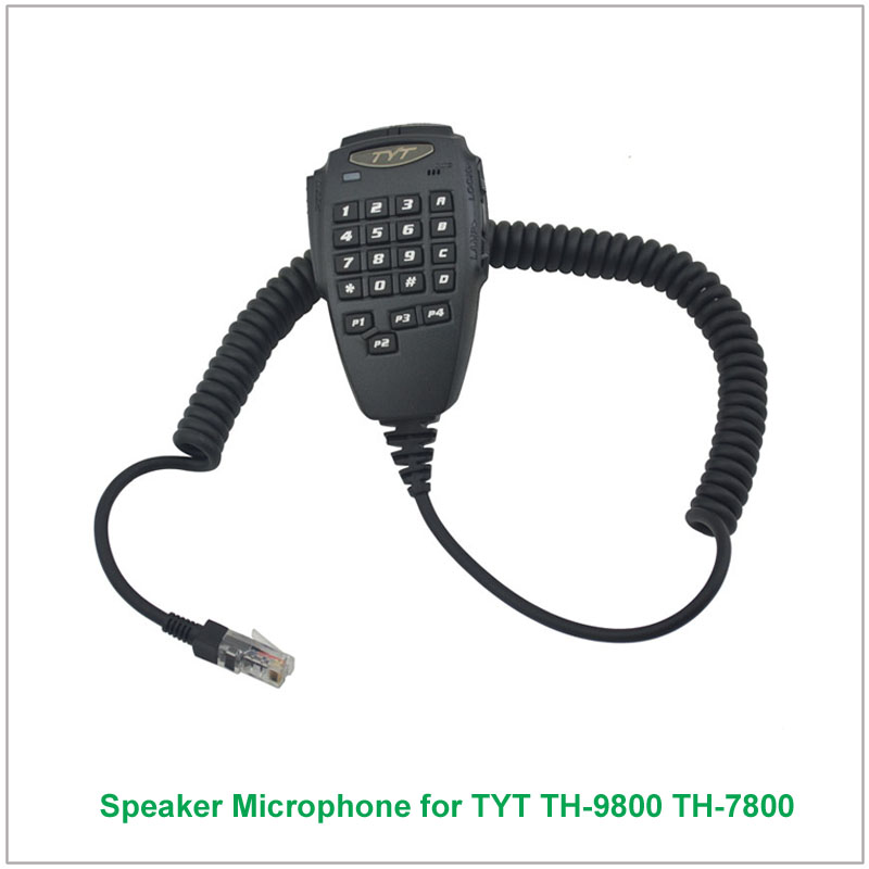 Original TYT 6 Pin DTMF Handheld Speaker Microphone For TYT TH-9800 TH-7800 Amateur Mobile Transceiver