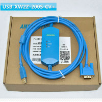 AMSAMOTION USB XW2Z 200S CV+ PLC programming cable for Omron CQM1 C200HE CS series
