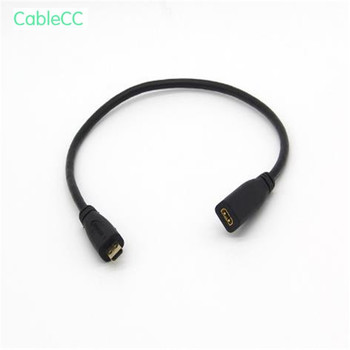 Copper Micro HDMI Transit Micro HDMI Female HD Video Audio Connection Adapter Cable D Male D Female