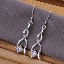 E182 silver stars earrings,with crystal hight quality,fashion/classic jewelry, Nickle free,factory price korean bijoux