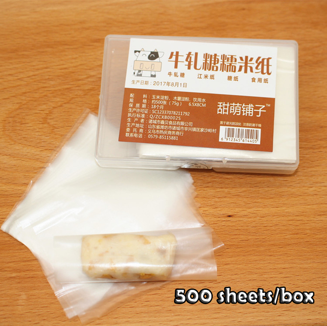 free ship nougat packing paper edible rice paper wrappers edible
