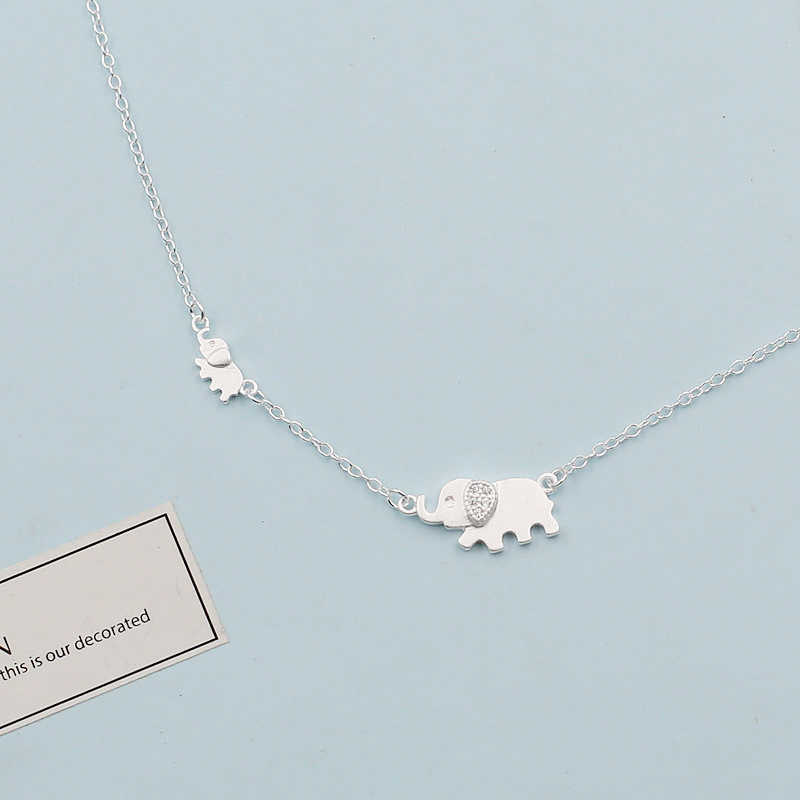XIYANIKE 925 Sterling Silver Cute Elephant Design Fashion Charming Chain For Women Necklace Choker necklaces & pendants VNS8366