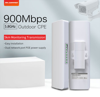 2pcs COMFAST CF-E313AC 5KM 900Mbps 5.8Ghz Outdoor Mini Wireless AP Bridge WIFI CPE Access Point 12dBi WI-FI Antenna Nanostation 1