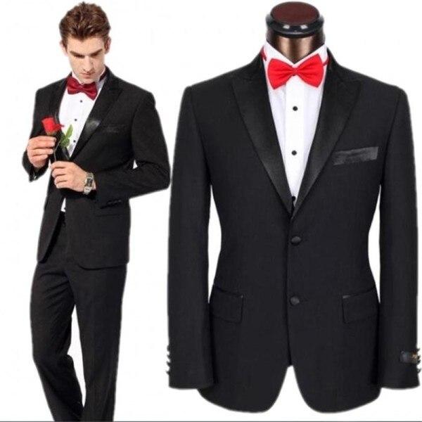 Latest Coat Pant Designs Black Formal Men Suit Slim Fit Wedding ...