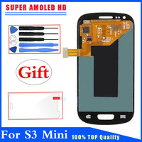 Super AMOLED HD LCD Display Touch Screen Digitizer For Samsung Galaxy S3 Mini I8190 Blue White