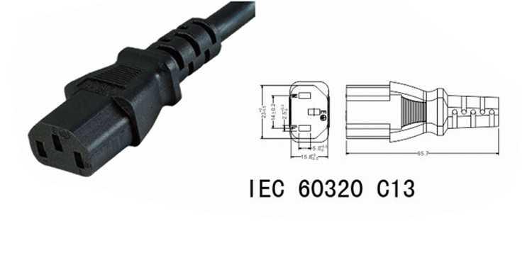 IEC60320 C13 Cavo di Alimentazione CA Corta Stampante Cavo 20 cm Per Computer display A LED Portatile fornello di Riso elettrodomestici