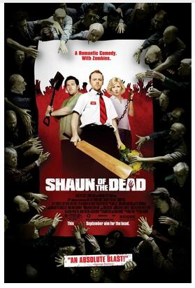 SHAUN OF THE DEAD (2004) film Art Wall Decor Silk Print Poster image