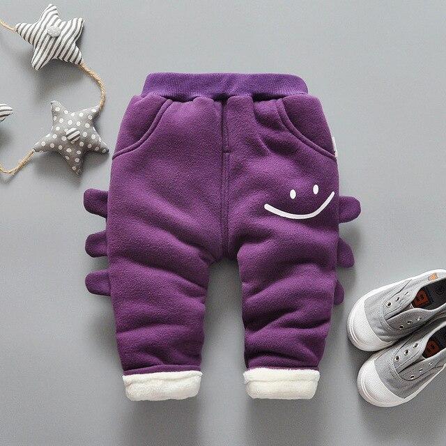 Детские зимние брюки мальчиков и девочек толстые одежда детский мультфильм теплый хлопок брюки
