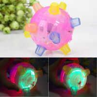 1 sztuk LED migające skacząca piłeczka zabawki dla dzieci Joggle dźwięk wrażliwe, wibracyjne zasilany Gra z piłkami dzieci migające piłka zabawka dla dzieci